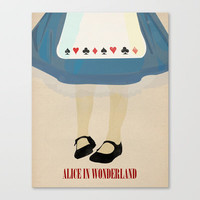 Alice In Wonderland Stretched Canvas by Magicblood