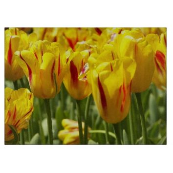 Yellow Tulips Floral Cutting Board