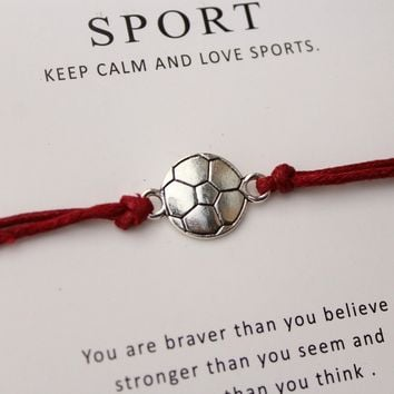 Sports Bracelet and Inspirational Card