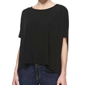 Jersey Scoop-Neck Tunic, Black - Michael Kors