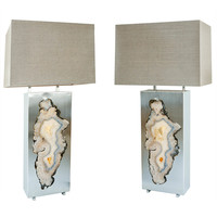 """Pair of Special Edition """"Pedra"""" Table Lamps, Dragonette Private Label"""