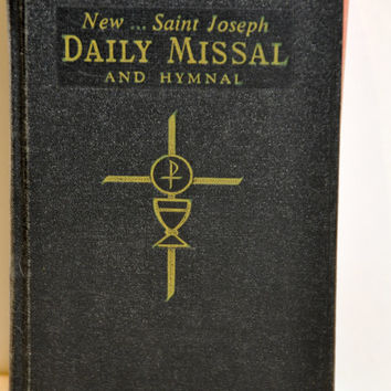 1966 New Saint Joseph Daily Missal and Hymnal. Old Hymnals. Church Hymnal. Sunday Missal. Catholic Missal. Religious Book.