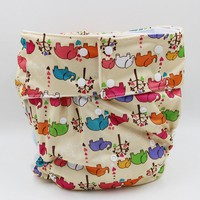 3PCS New style waterproof diaper wash diapers denim printed cloth diapers Free size Adult Diapers biggest waist 130cm SE5