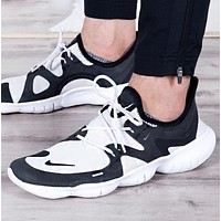 NIKE Free Rn 5.0 Fashion New Hook Print Contrast Color Sports Leisure Shoes