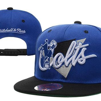 PEAPON Indianapolis Colts Snapback NFL Football Cap M&N