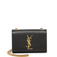 Monogram Leather Crossbody Bag, Black - Saint Laurent