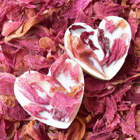 Rose petals soy wax melts-Set of 2-Soy scented home fragrance-melt tarts-Love romantic gift-for wax burner-Bath and beauty-Aromatherapy