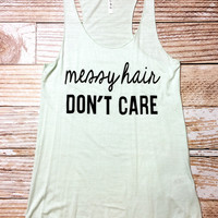 Messy Hair DON'T CARE - MINT