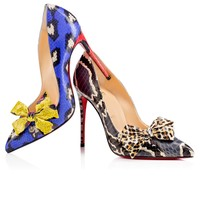 Madame Menodo 100 Version Blue Watersnake - Women Shoes - Christian Louboutin
