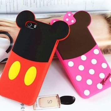 Mike Minnie Pooh Alien  soft silicone Cover case for iphone 4 4S 5 5S