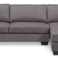 Santana 2-Piece Sectional with Right-Facing Chaise - Slate
