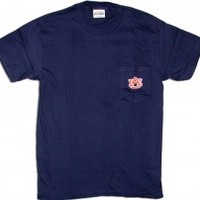 Auburn University Pocket T-Shirt - navy by Tiger Rags