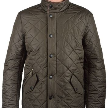 BARBOURPOWELL QUILTED JACKET - OLIVE