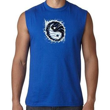 Yoga Clothing for You Mens Yin Yang Sun Muscle Tee Shirt