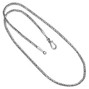 "AN-1000-S-4MM-22"" Bali Hand Crafted Sterling Silver Chain With 'S' Hook"