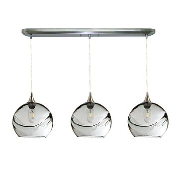 Swell 3 Pendant Linear Chandelier: Form No. 768