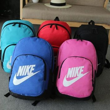 Gotopfashion NIKE Leisure and fashion sports double shoulder backpacking primary high school college student bag wear-resistant nylon outdoor travel backpacks""