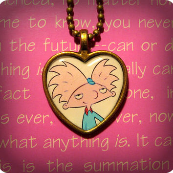 Hey Arnold! Arnold Helga Heart Necklace Pendant
