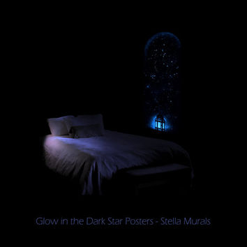 Glow in the Dark Starlight Window - Choose your own Night Light and Stars!