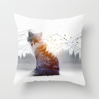 A Wilderness Within / Fox Throw Pillow by Soaring Anchor Designs | Society6