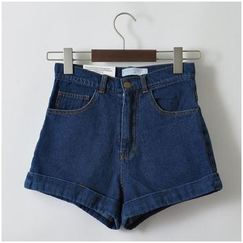 Tempe High Waist Vintage Denim Shorts