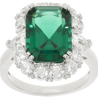 The Elizabeth Taylor 6.10 cttw Simulated Emerald Ring — QVC.com