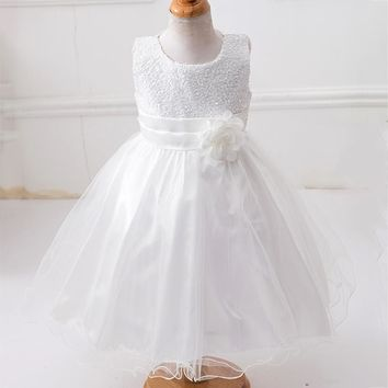 2018 girl summer princess dress wedding party dress girl sequined sleeveless dress girl dress 3-10 years old baby girl clothes