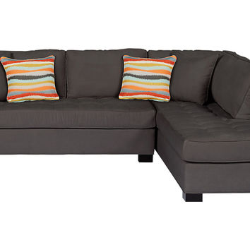 Cindy Crawford Home Calvin Heights Slate 2 Pc Sectional - Living Room Sets (Gray)