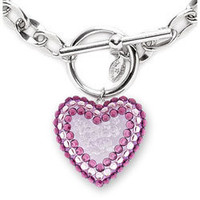 Lucite Heart Toggle Necklace - Iconic Collection - TARINA TARANTINO