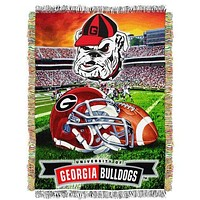 Georgia Bulldogs Home Field Advantage Throw Rug