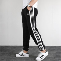 """Adidas"" Fashion Simple Pure LOGO Alphabet Stripe Printed Nine-cent Trousers"