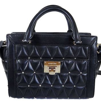 DCCKUG3 Michael Kors Vivianne Messenger Shoulder Bag Quilted Black