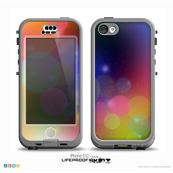 The Unfocused Color Rainbow Bubbles Skin for the iPhone 5c nüüd LifeProof Case