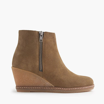 J.Crew Womens Macalister Zip Wedge Boots