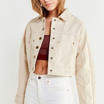 UO Gigi Cropped Gas Jacket | Urban Outfitters