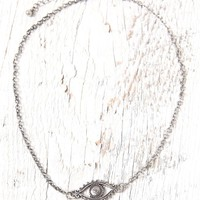 With Love From CA Evil Eye Choker Necklace - Womens Jewelry - Silver - One