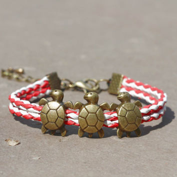 Turtles Bracelet, Personalized Bridesmaid Jewelry, Friendship Graduation Christmas Birthday Gifts, Trending Accessories