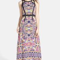 Ivy & Blu Cutout Detail Print Maxi Dress