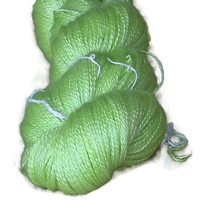 "Luxury Cashmere Yarn With Silk, Hand Dyed 2-ply Apple Green "" Apples"""