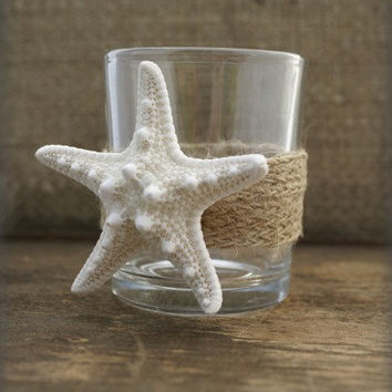 BEACH CANDLE, Wedding Votives,  Votive Holder, Centerpieces, Decor, by Cheydrea