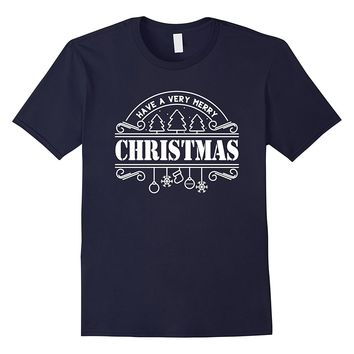 Have A Merry Christmas T-Shirt Snow Santa Claus Gift Tee