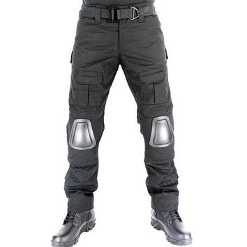 DKF4S Military Tactical Pants with Knee Pad Hunting Clothing Airsoft Paintball Army Combat Padding Suit Camouflage Sport Trouser