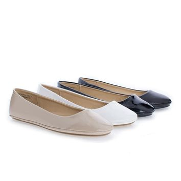 AfarIIS By Soda, Children Girls Round Toe Slip On Ballerina Flats