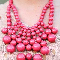 Big Bold Bubble Necklace: Blush | Hope's