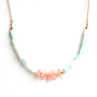 Rare Bird: Peruvian Opal Necklace Coral, at 16% off!