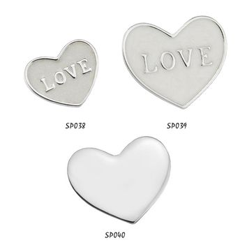 CKK 925 Sterling Silver Love Heart Petite Beads Fit Float Locket Pendant Charms DIY Necklaces 2017 Mother Day's PT21-37