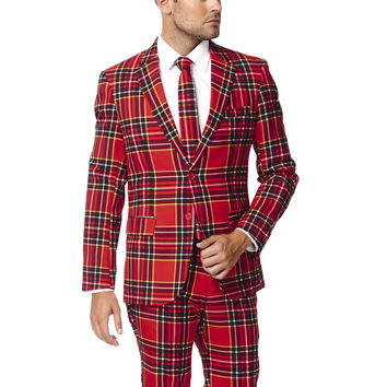 Pre-Order - The Tiny Tim Ugly Christmas Sweater Red Tartan Plaid Dress Suit - Fall 2016 Delivery