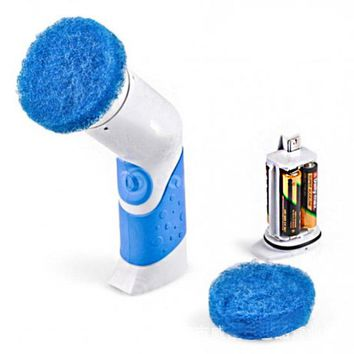 Handheld Electric Cleaner Brush Portable Cordless Power Scrubber Cleaning Kit for Bathroom Kitchen