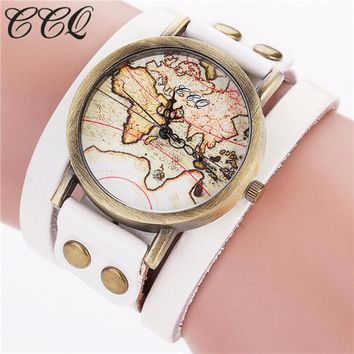 Tessa World Map Strap Watch