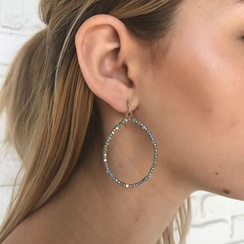 Sea Side Hoops in Blue